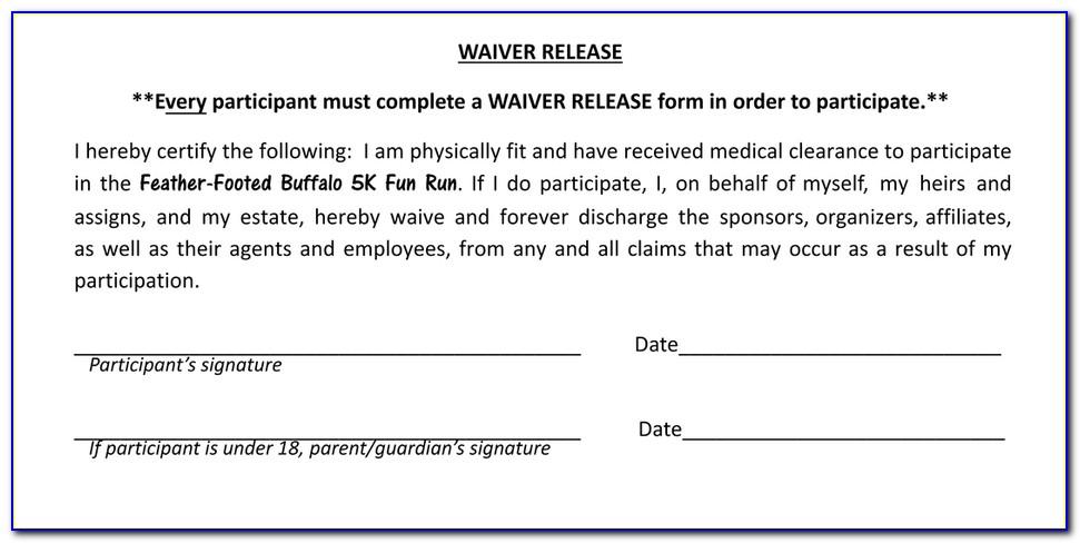 Fun Run Waiver Form
