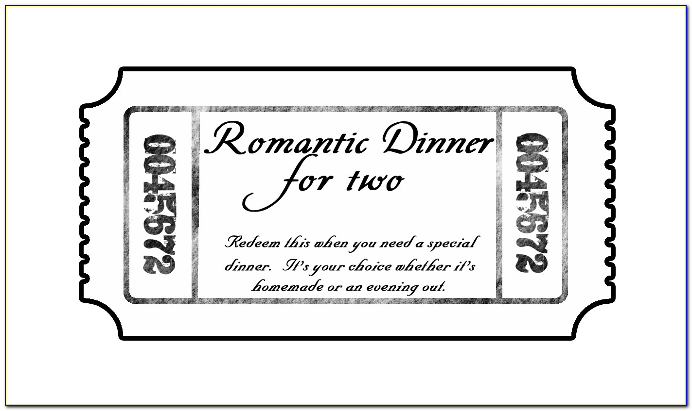Gala Dinner Tickets Template
