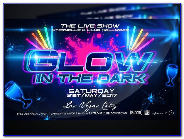 Glow In The Dark Party Flyer Template Free