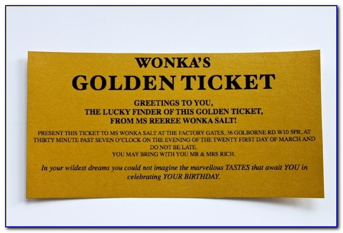 Wonka Bar Golden Ticket Invitations Donuts Detoursdonuts Golden Ticket Party Invitation Template Free Golden Ticket Party Invitation Template Free
