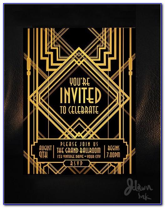 Great Gatsby Wedding Invitation Template
