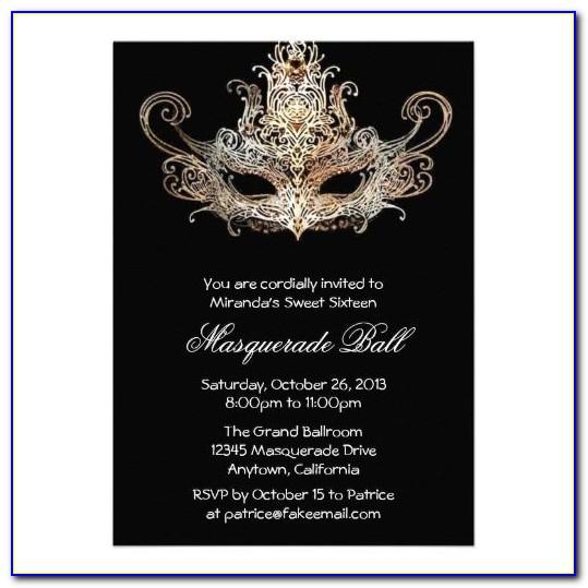 Halloween Masquerade Party Invitation Templates