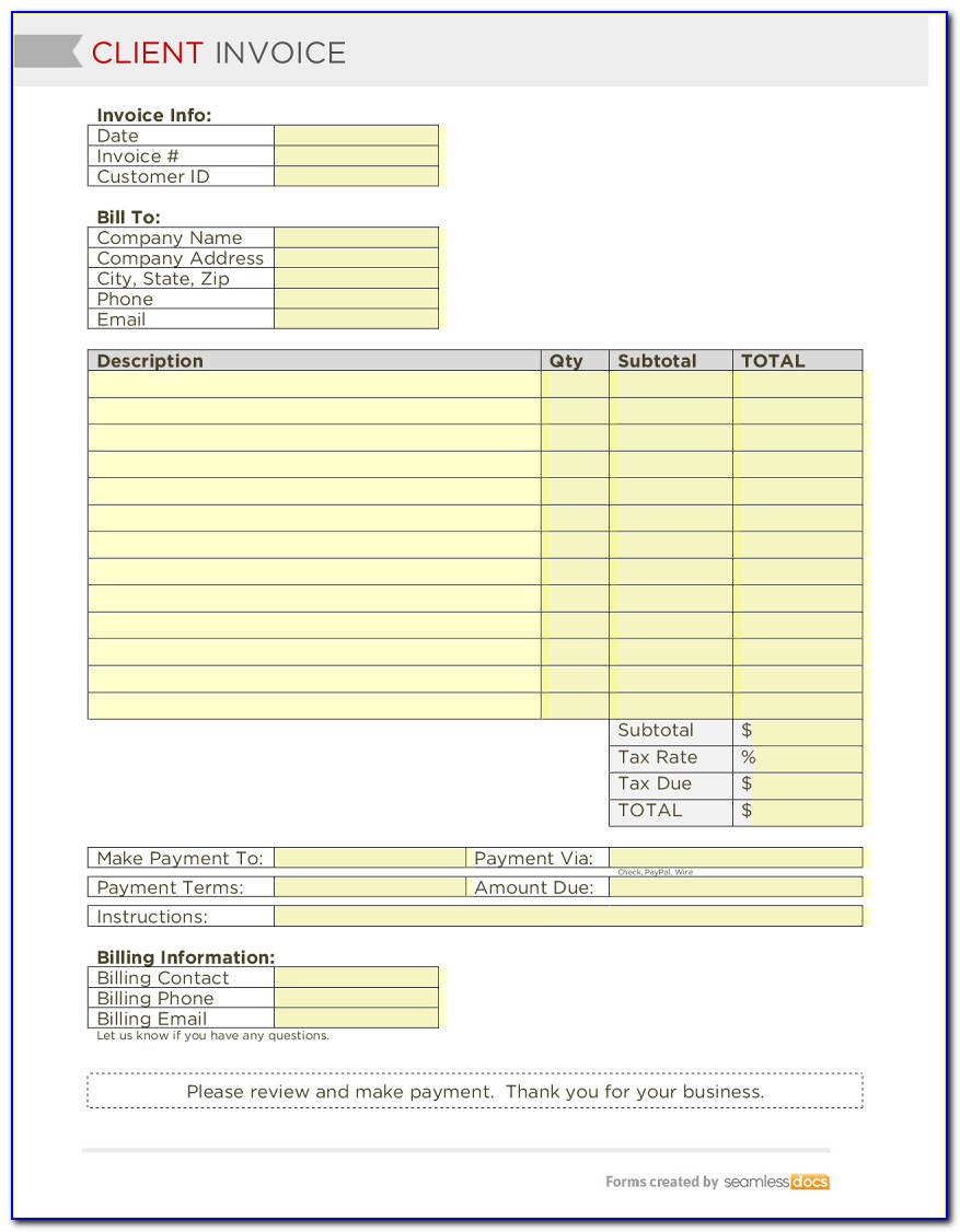 Home Health Care Receipt Template