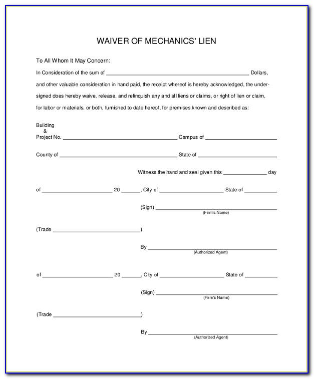 Ien Waiver Form Template