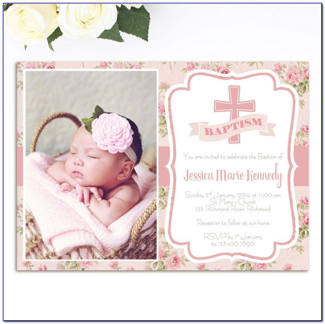 Lds Baptism Invitation Template Free