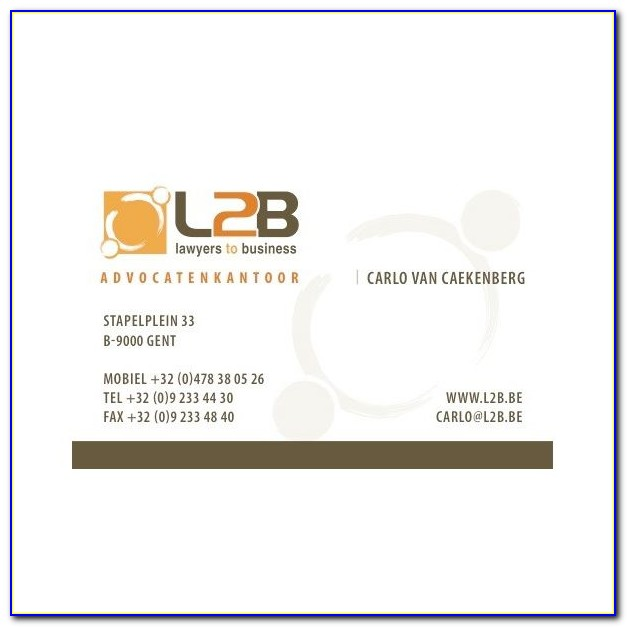 Legal Business Cards Sample