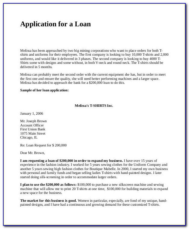 Loan Proposal Example