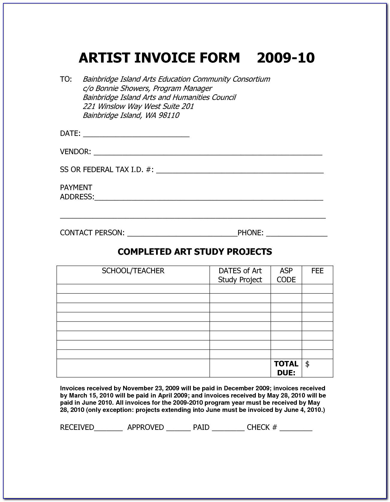 Makeup Artist Invoice Template Home Improvement Ideas Artist Invoice Template