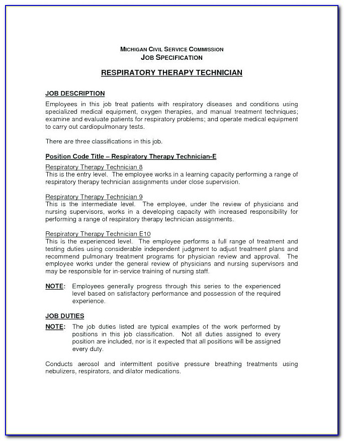 Massage Therapist Job Description Example