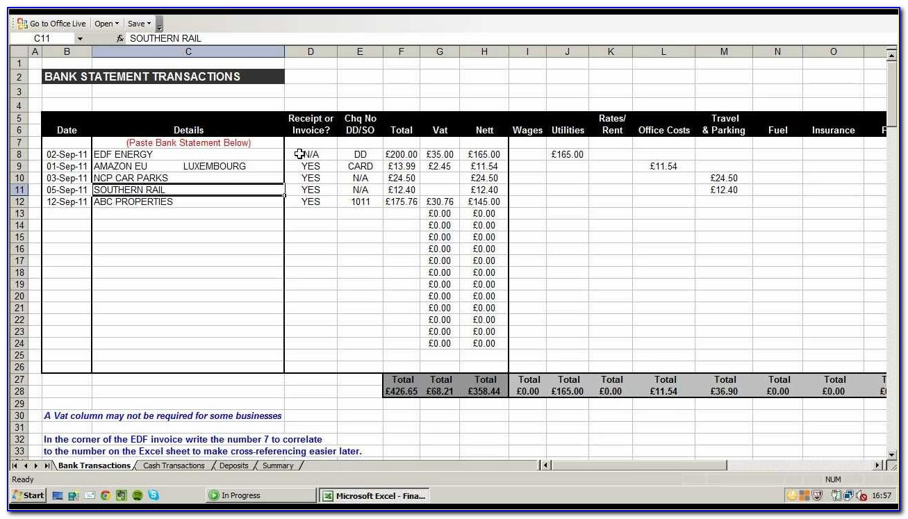 Monthly Expense Template For Small Business