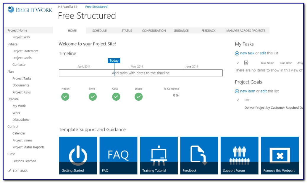 Ms Sharepoint Project Management Templates