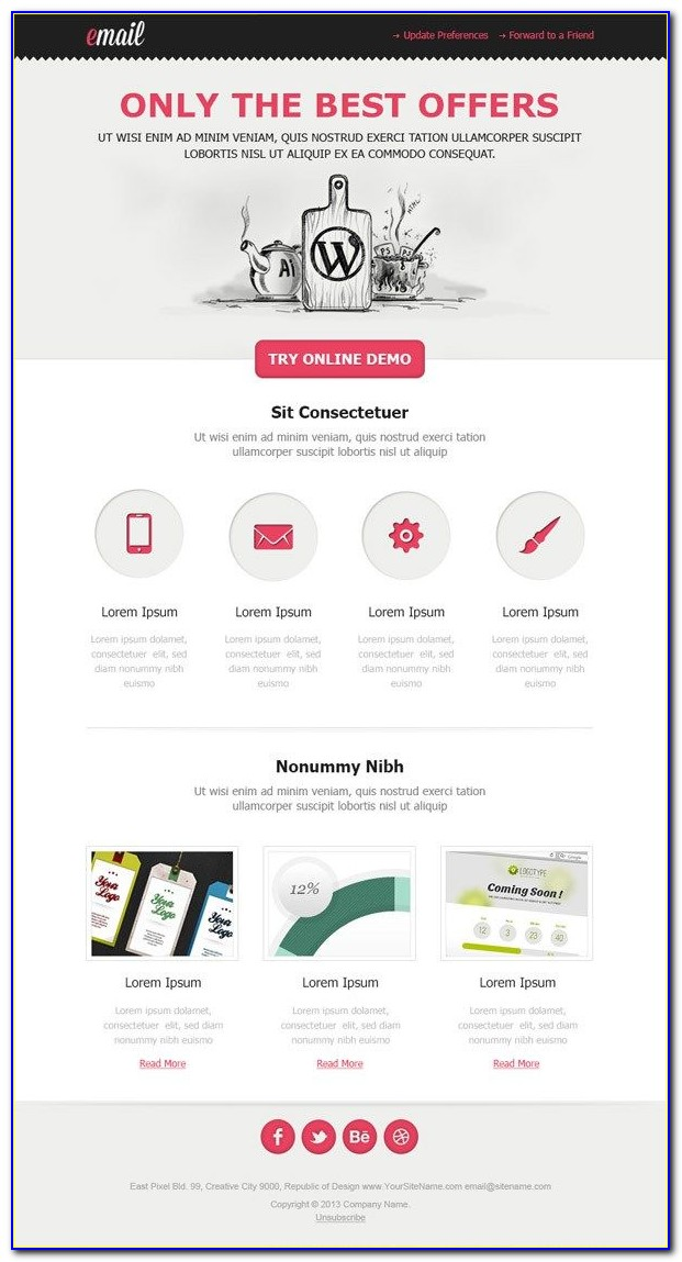 Newsletter Layout Psd