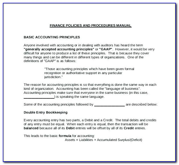 Nonprofit Policy And Procedure Manual Template