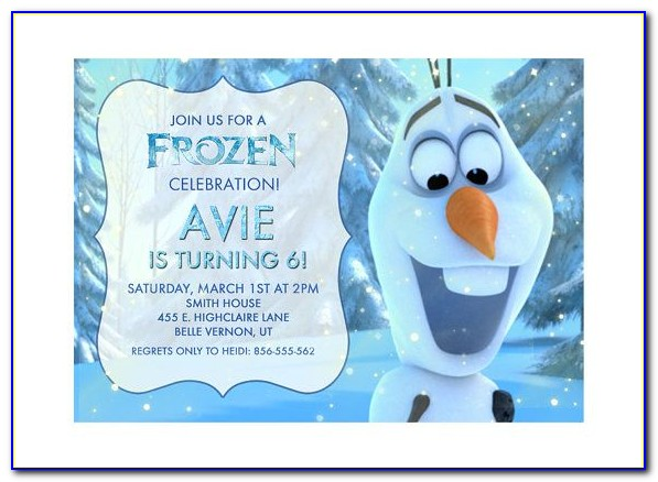 Olaf Birthday Invitation Template