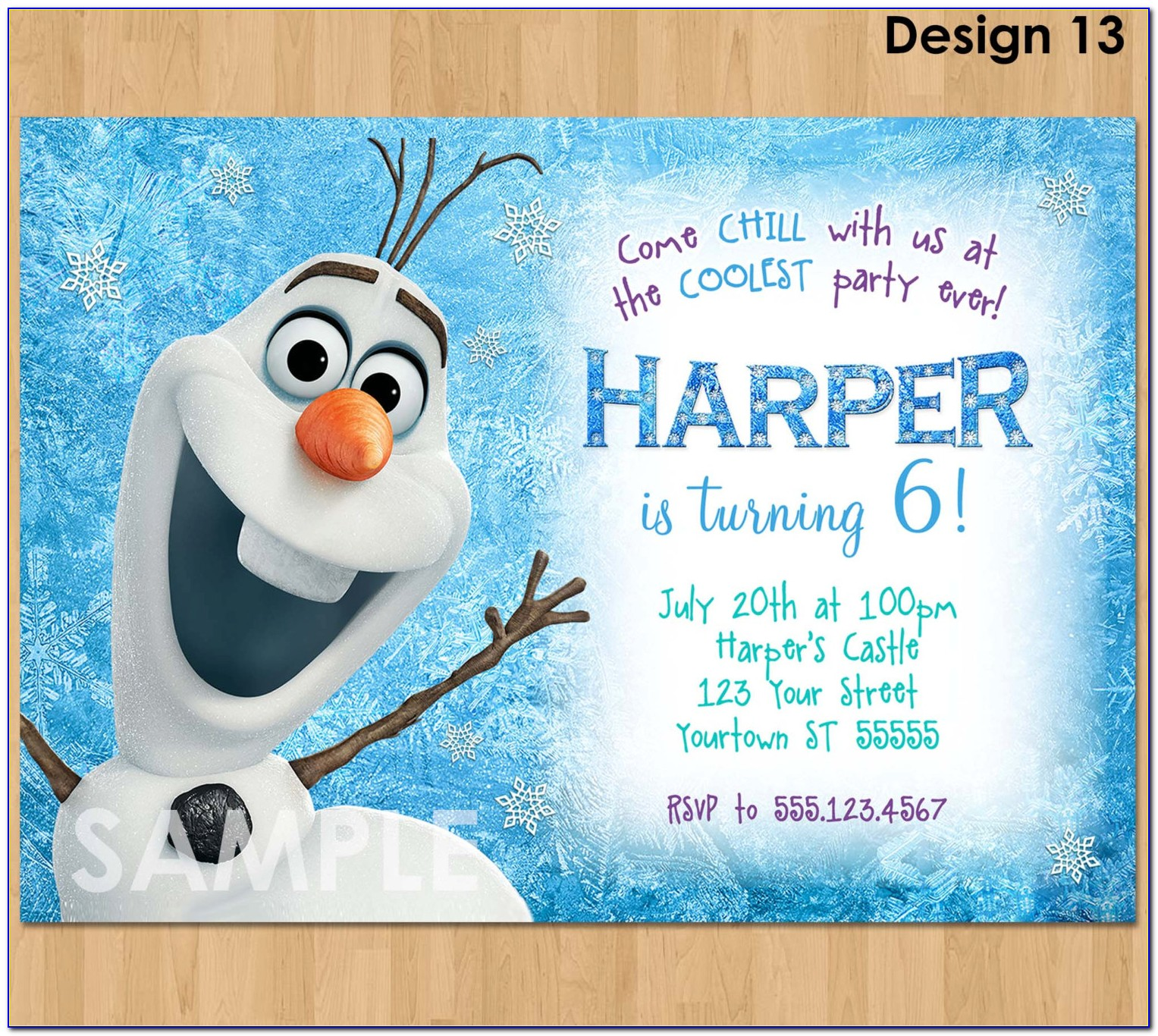 Olaf Invitation Template