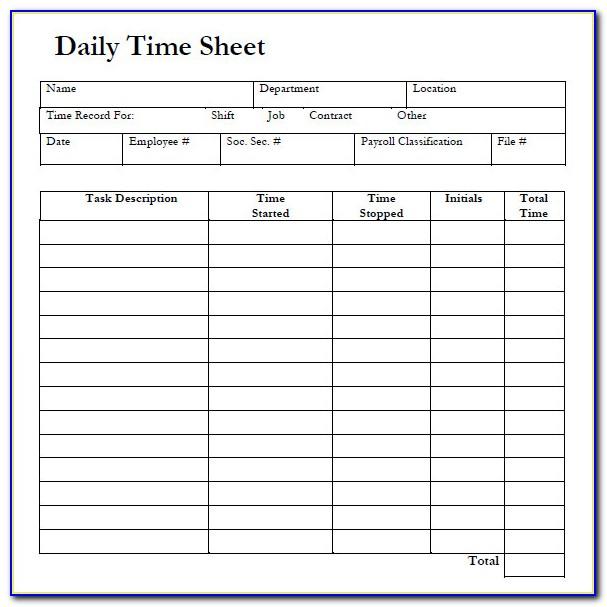 Online Excel Timesheet Template