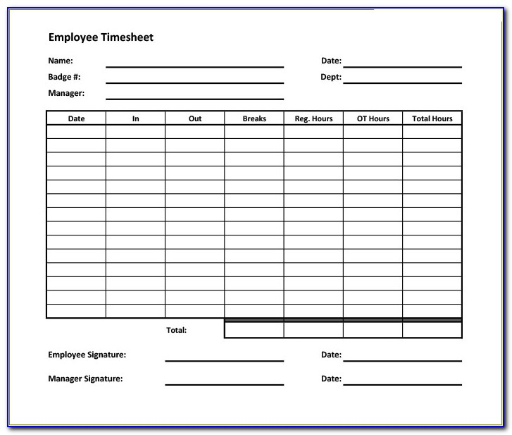 Online Timesheet Form