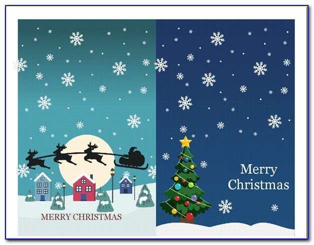 Open Office Christmas Card Template