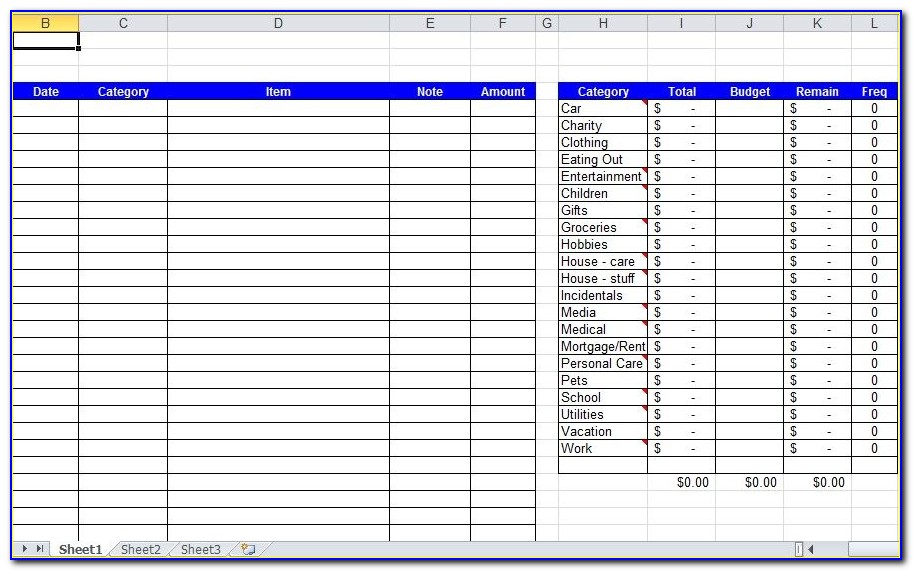 Personal Daily Expense Tracker Excel Template
