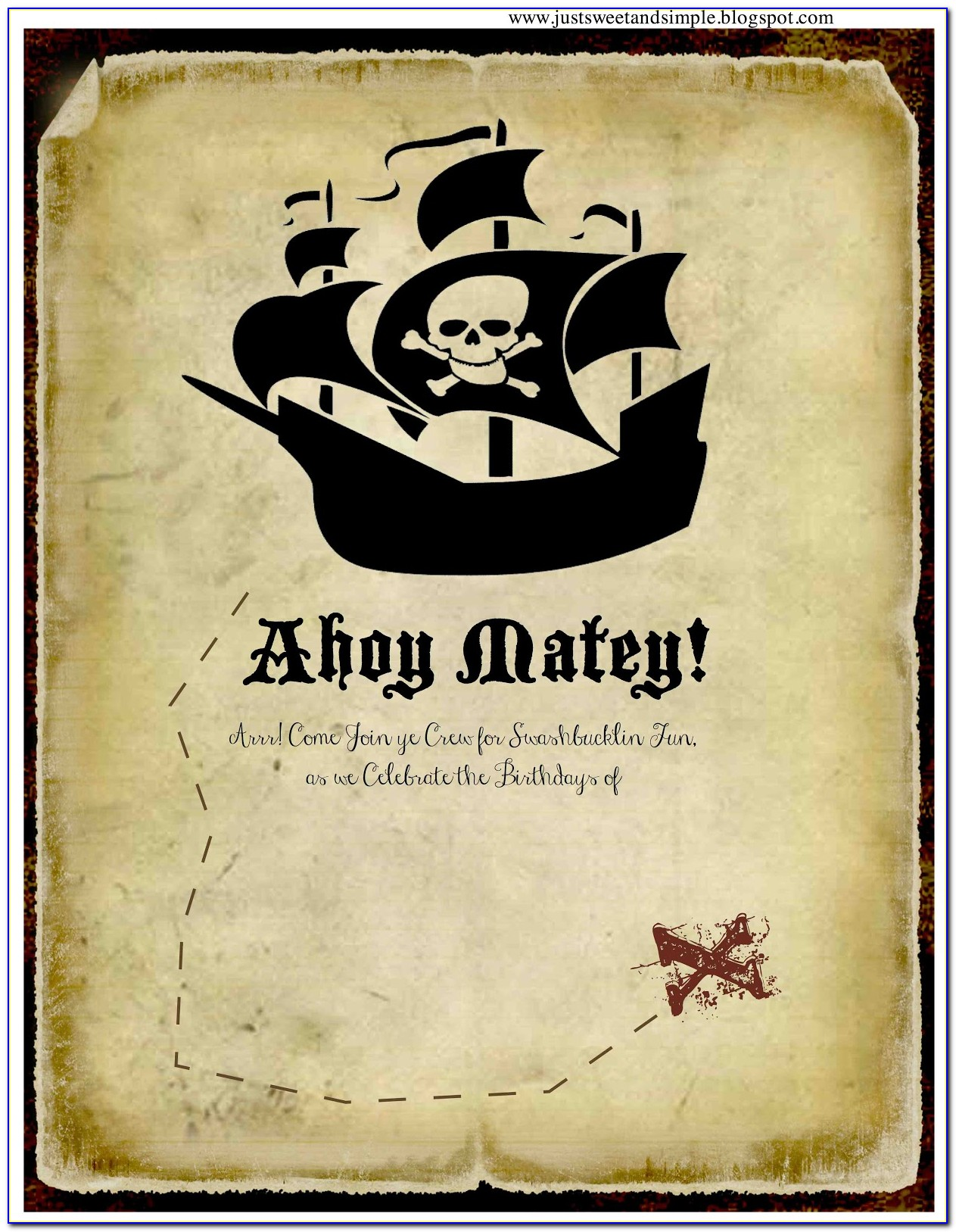 Pirate Party Invitations Templates Free