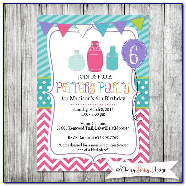 Pottery Party Invitation Templates