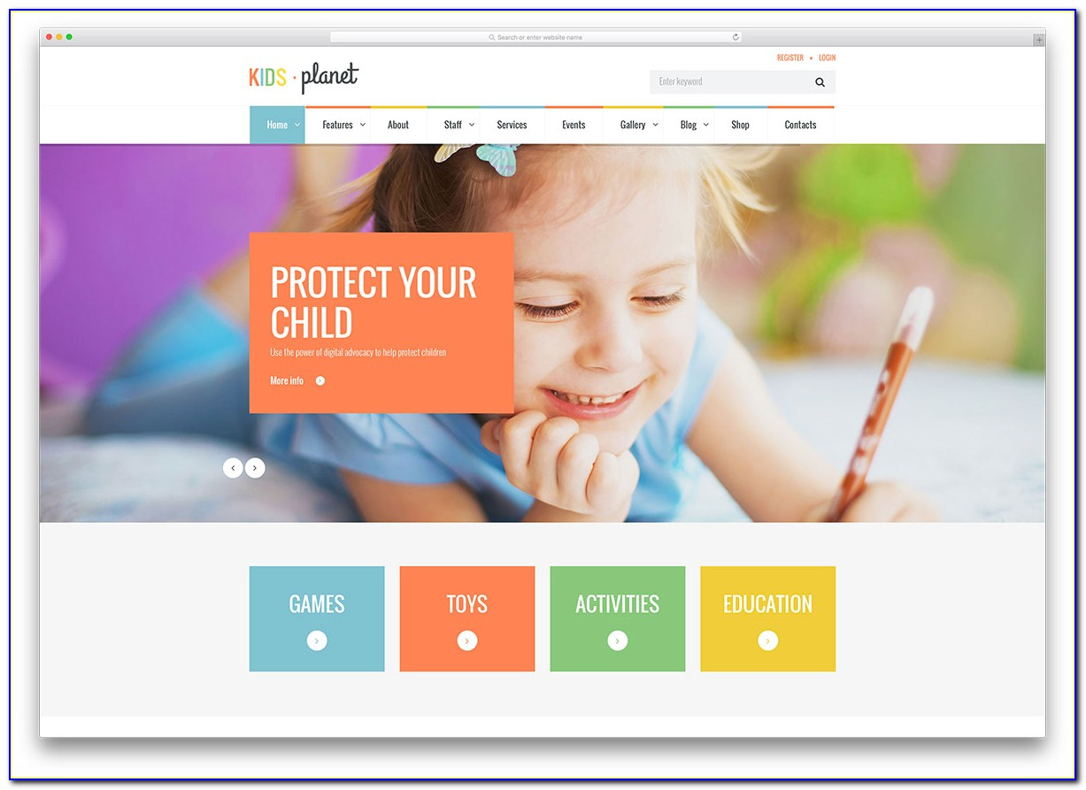 Preschool Free Website Template