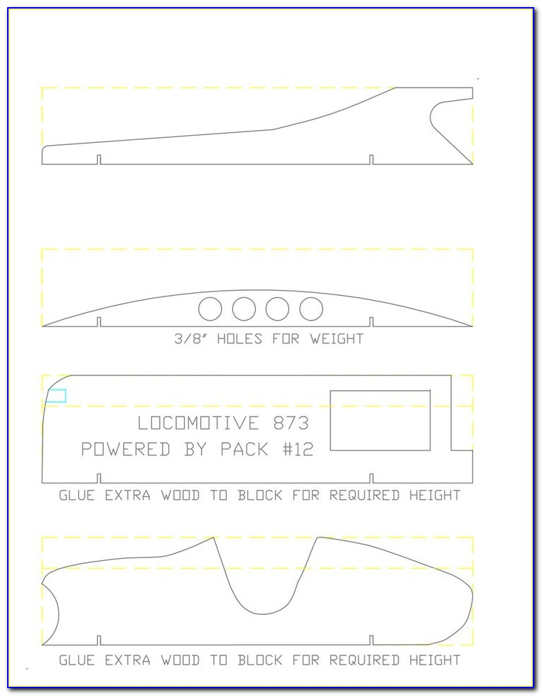 Printable Templates For Pinewood Derby Cars