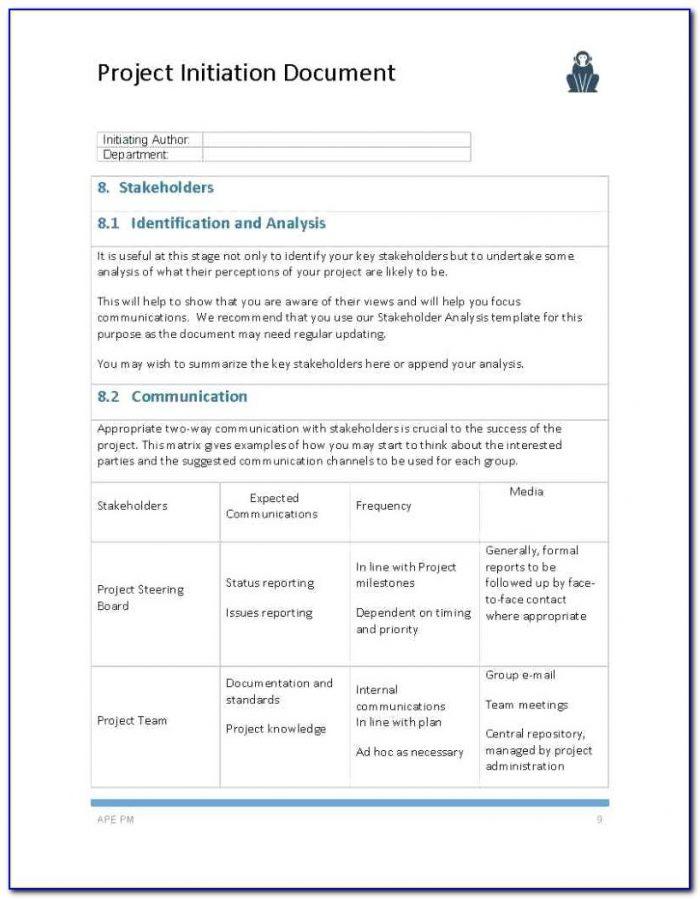 Project Management Document Templates