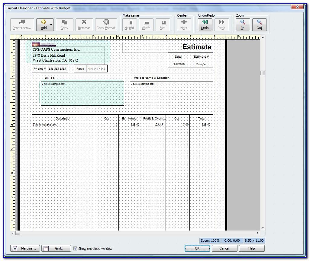 Quickbooks Online Estimate Templates