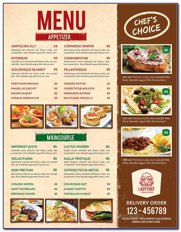 Restaurant Menu Templates Illustrator Free