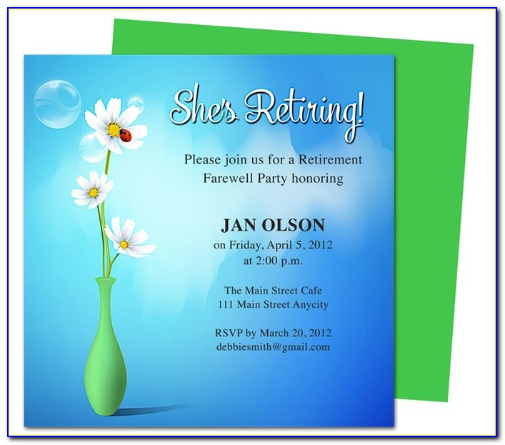 Retirement Invitation Word Template Free