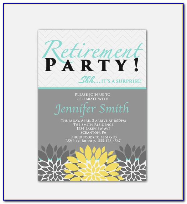 Retirement Luncheon Flyer Retirement Party Invite Template Free