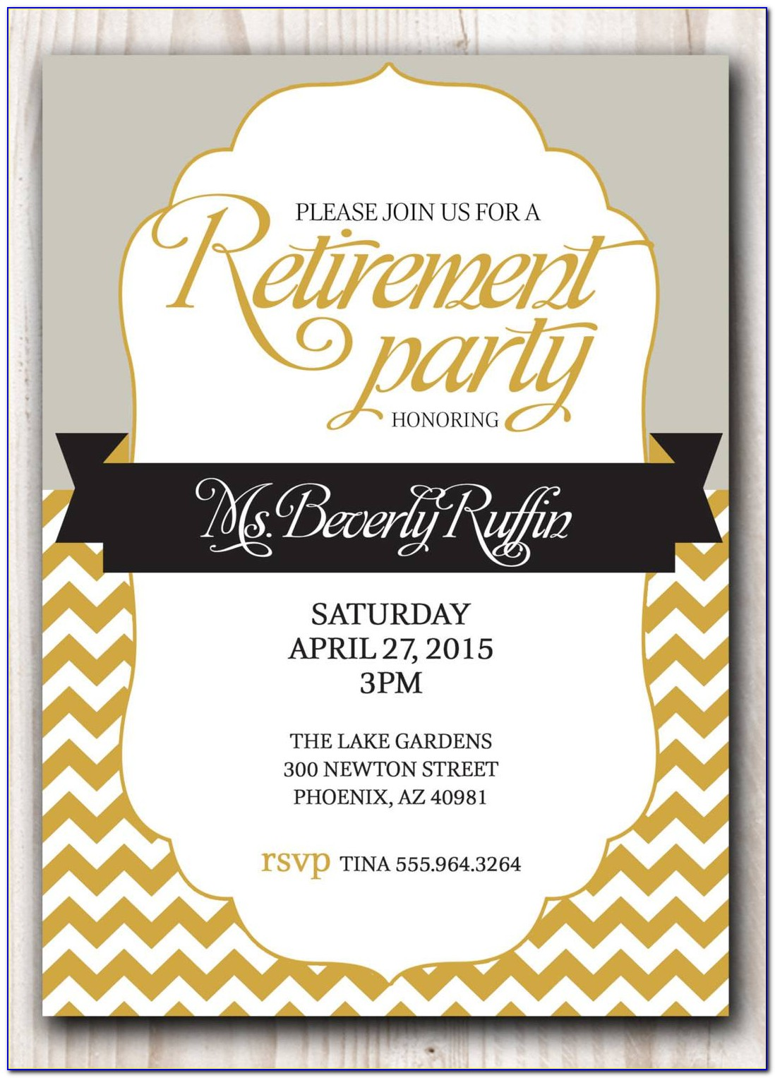 Retirement Party Invitation Templates Free