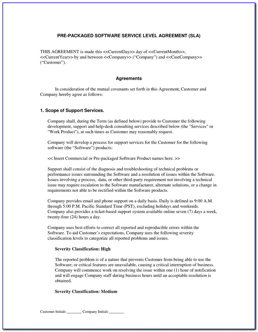 Saas Agreement Template Uk