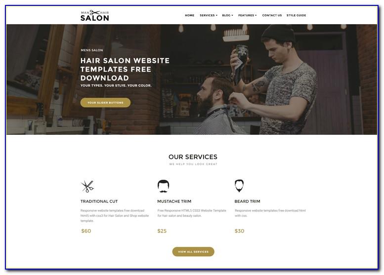 Salon Website Templates Free Download