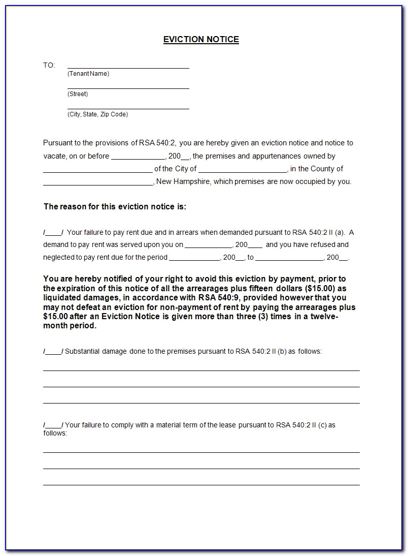 Notice Of Eviction Letter Template | Best Business Template Within Notice Of Eviction Letter Template