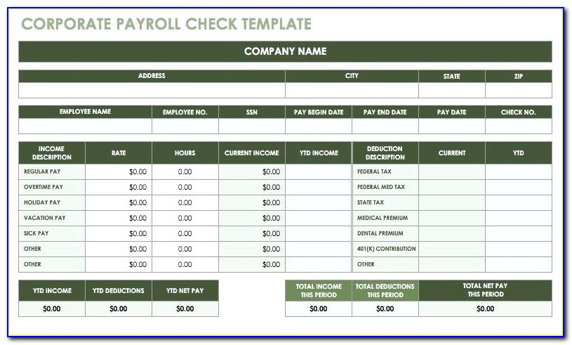 Sample Payroll In Excel Free Download
