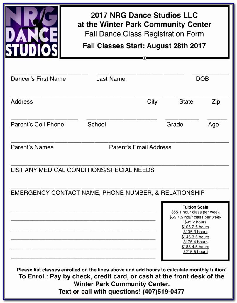 Winter Park Dance Studio 1st Dance Class Free Ballet Tap Jazz Design Dance School Registration Form Template Free Fresh Doc Xls Letter Templates Wpolr