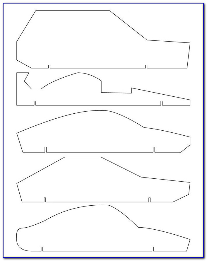 Shark Template For Pinewood Derby Car