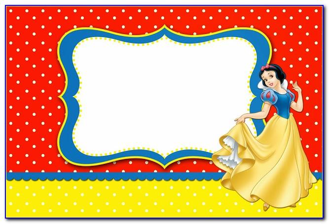 Snow White Invitation Template