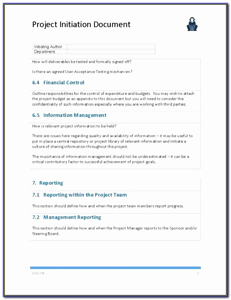 Project Documentation Template Pwncj Luxury Project Initiation Document Template Page 08 Ape Project Management