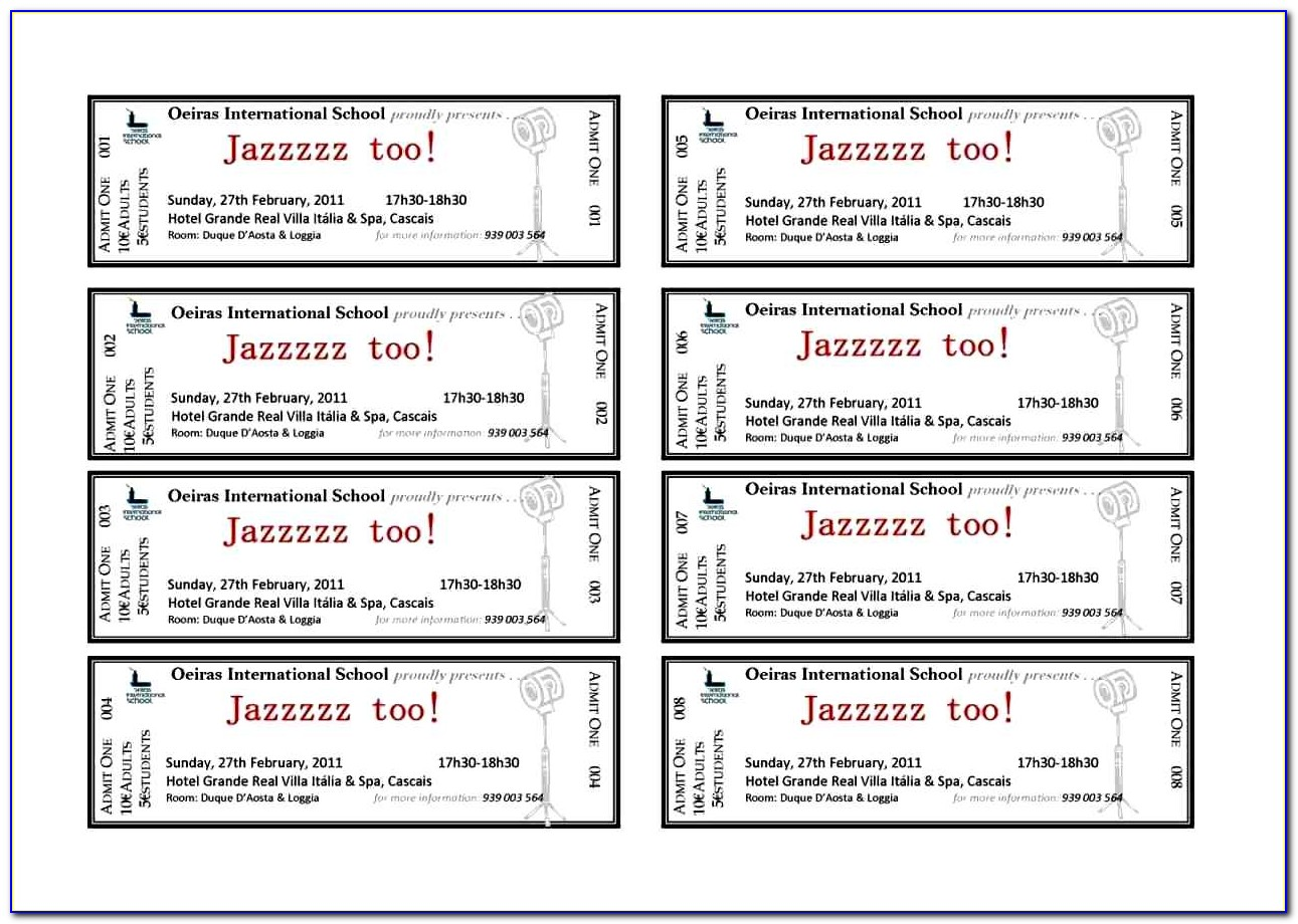 Benefit Dinner Ticket Template