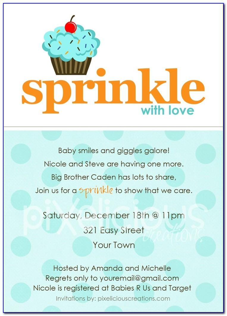 Sprinkle Invitation Template Free