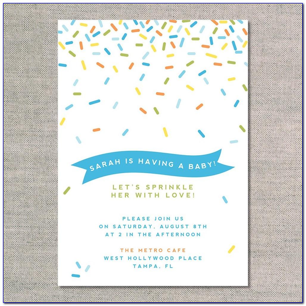 Sprinkle Invitations Templates