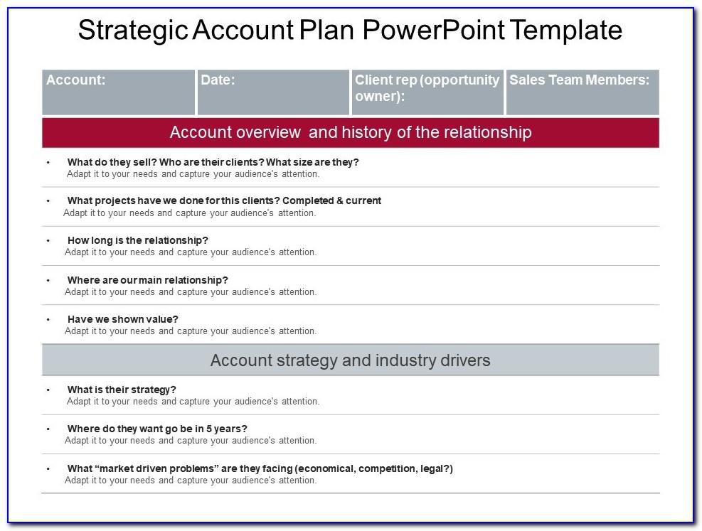 Strategic Account Plan Template Ppt