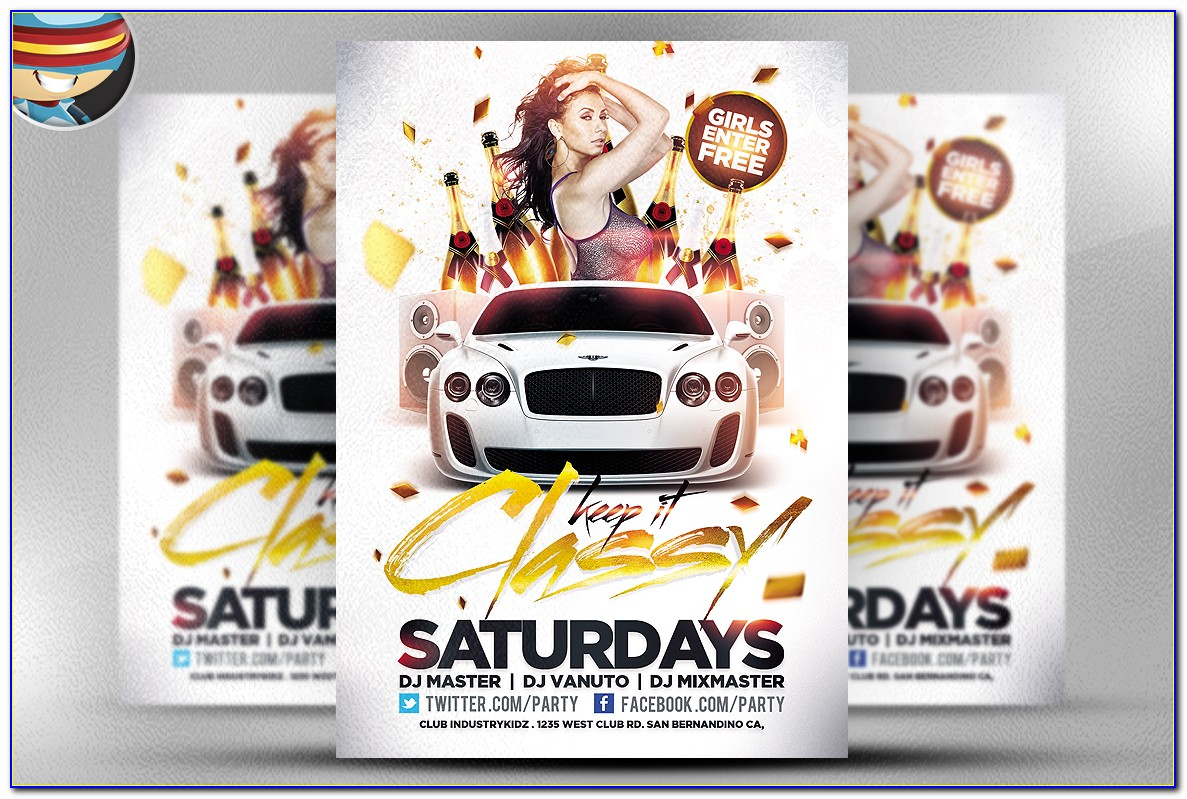 Summer Party Flyers Templates Free