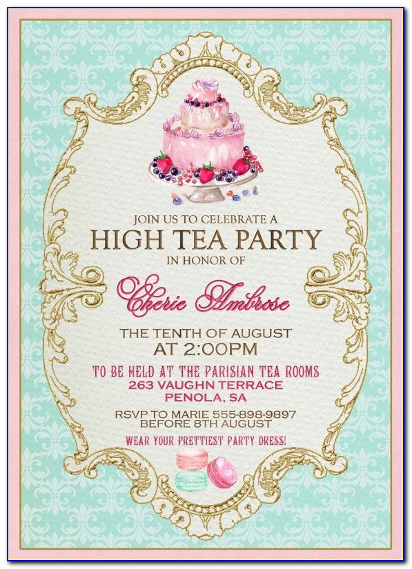 Tea Party Invitation Templates Free Download