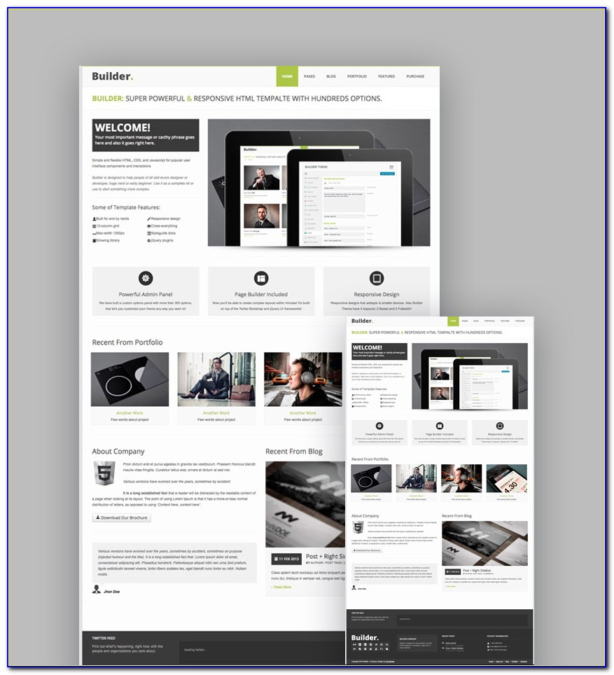 Templates Responsive Html5 Css3 Free