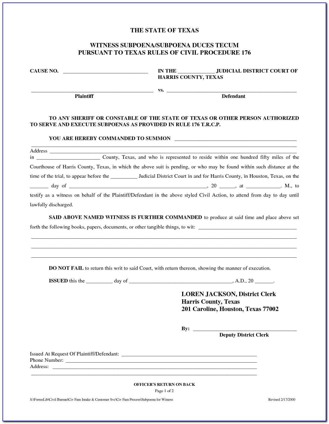 Texas Divorce Decree Example