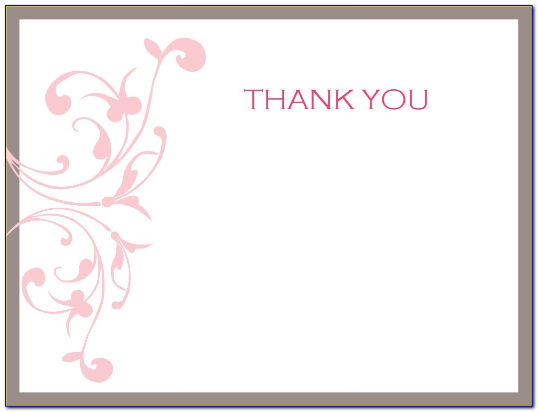 Thank You Card Template Wedding